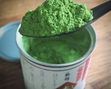 Handmade green tea body powder