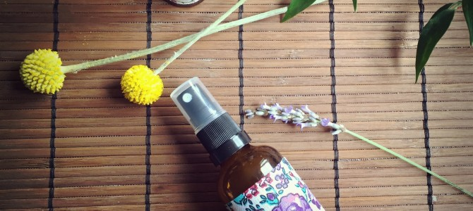 DIY recipe for deodorant spray to use over clothing